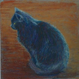 art black cat pastel revised