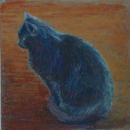 art black cat pastel revised