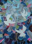 Beth Fowler art Beautiful 3 doves collage