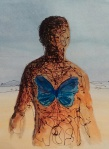 art susan black man with butterfly image